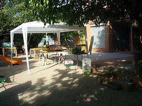 Montaje exterior patio colegio